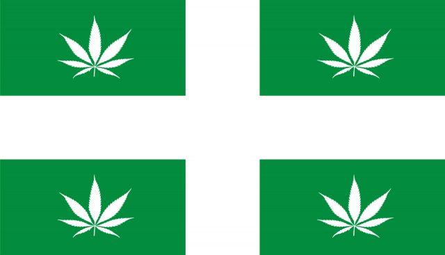 Drapeau Parti Marijuana Québec