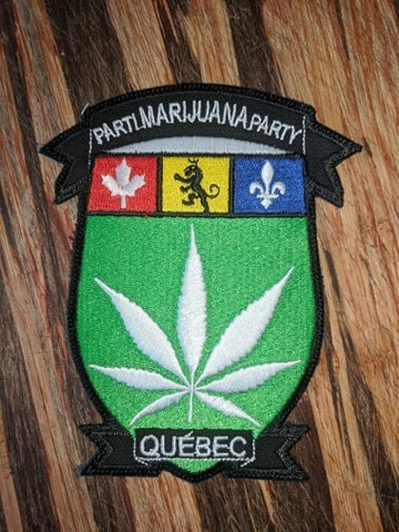 écusson parti marijuana
