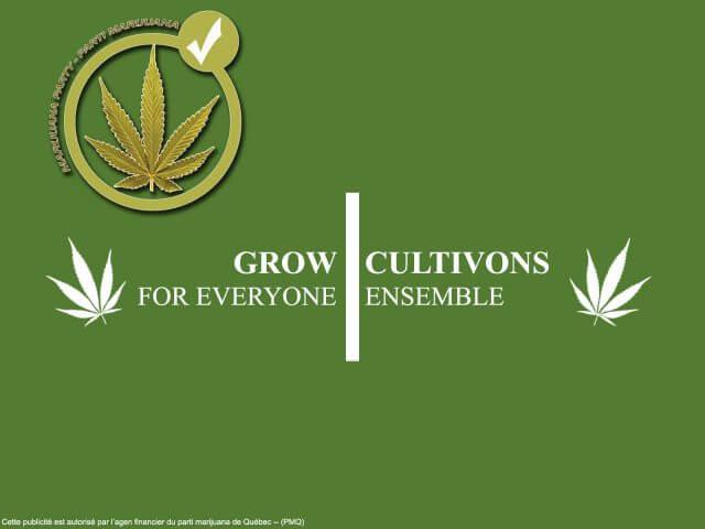 Parti marijuana publicité èlection